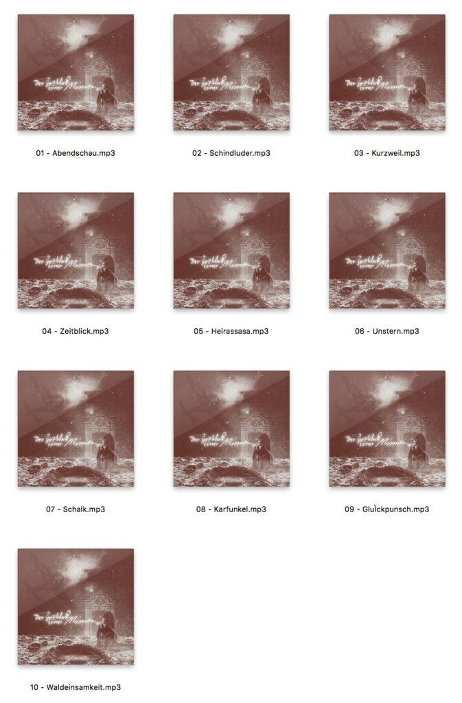 Der Zeitblick einer Minute. Ein Dadanaut Musik-Album zum kostenlos herunter laden.