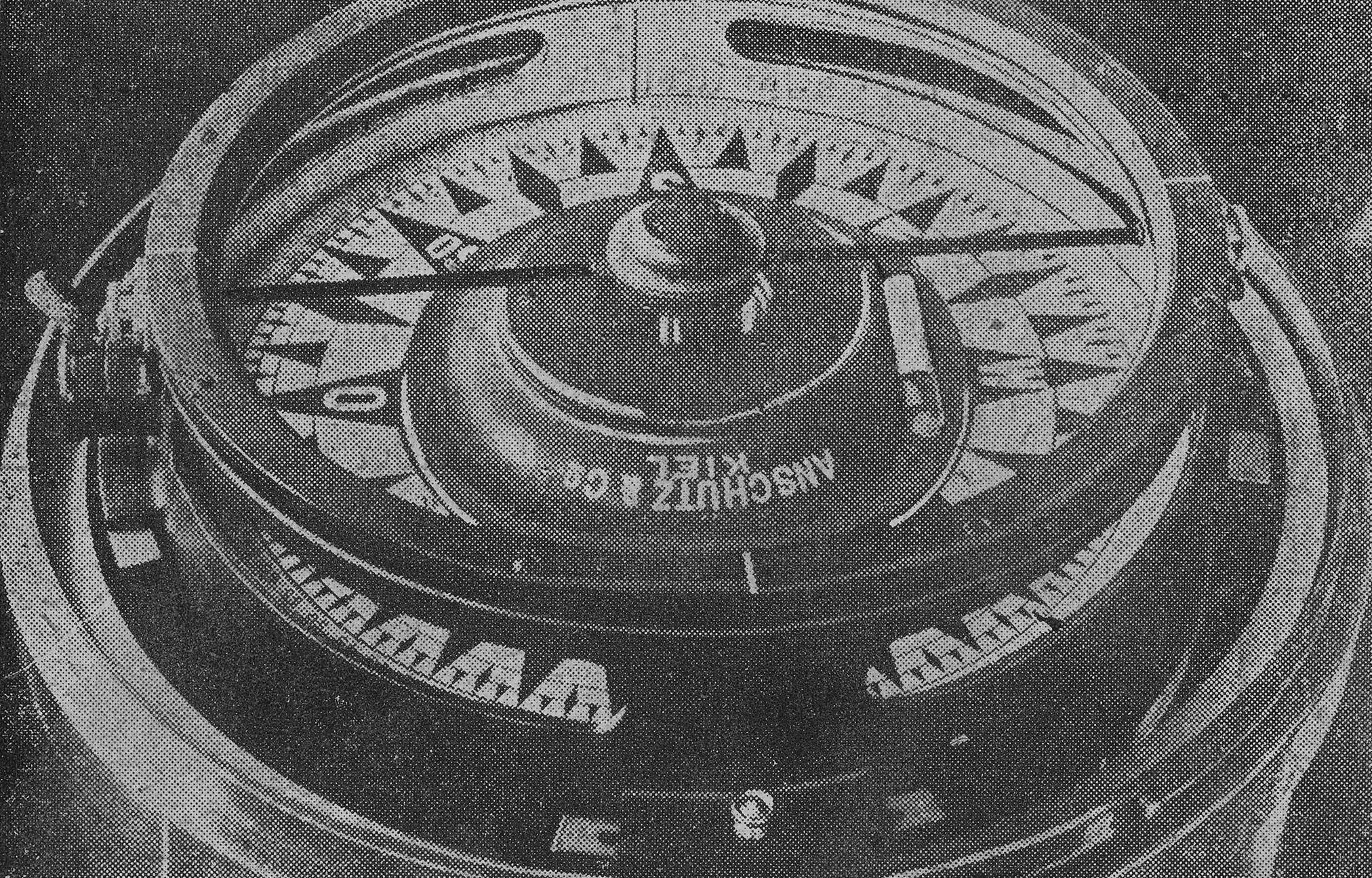 Dadanaut auf Reise, mit Kompass