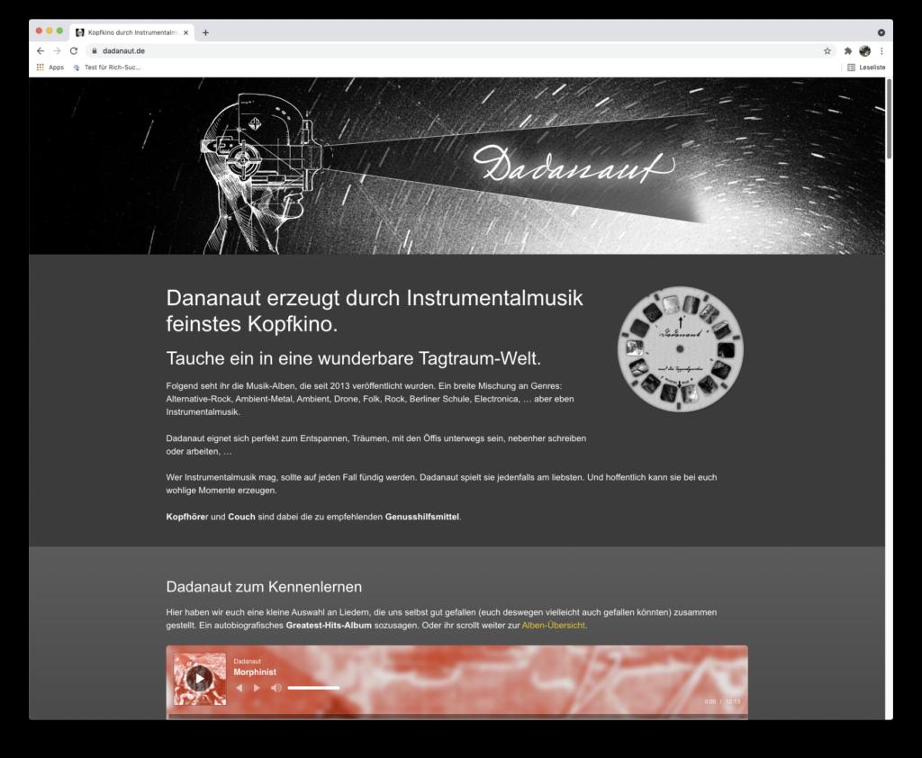 Ein weiterer Relaunch. Mittlerweile der fünfte für dadanaut.de.